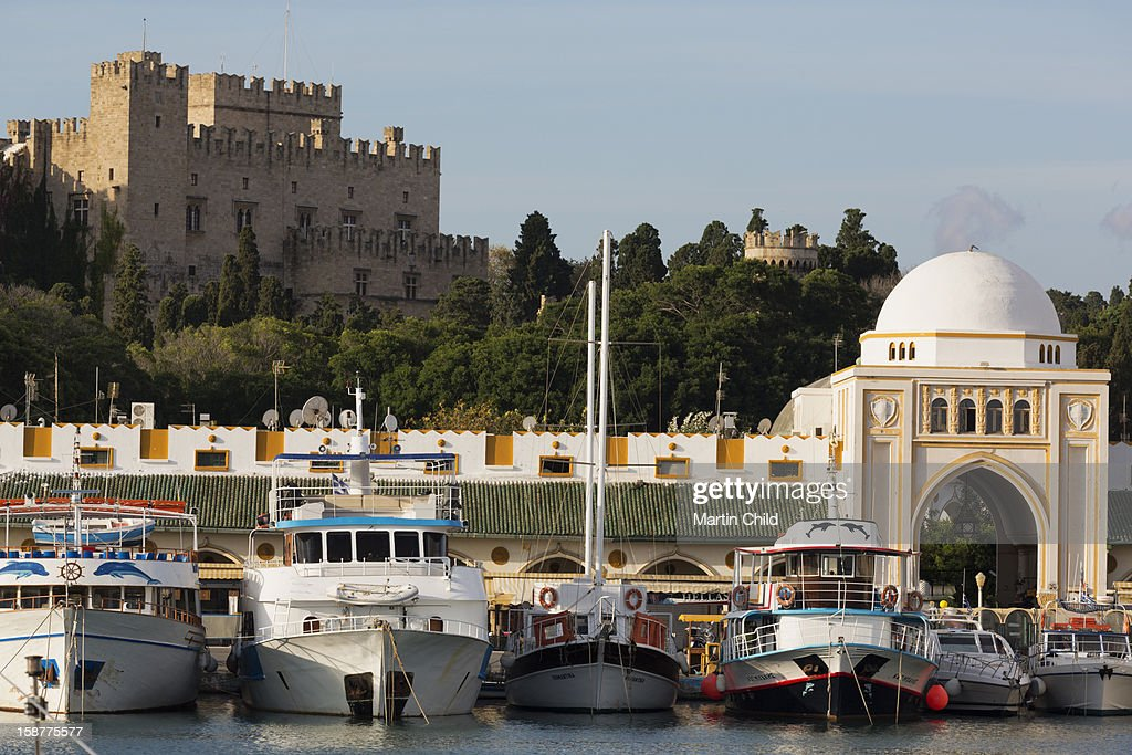 Mandraki harbour, Rhodes old town