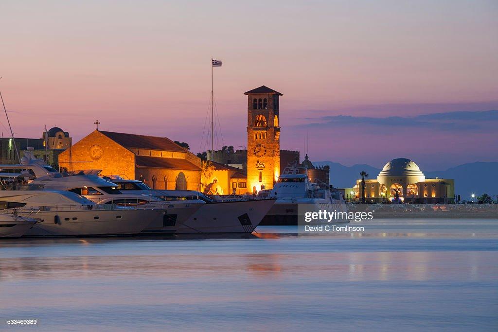 Mandraki Harbour, Rhodes Town, Rhodes, Greece