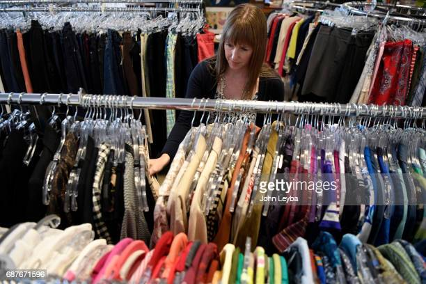 Mandy Anderson goes shopping at Peak Thrift store on May 23 2017 Mandy picks out a few items to try on during her shopping excursion Mandy shows that...