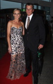Mandy Barker and her Husband Team New Zealand Skipper Dean Barker arrive at the Moet Party marking the start of New Zealand Fashion Week 2011 at...