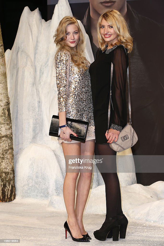 Mandy Bork and Sarina Nowak attend the 'Twilight Saga: Breaking Dawn Part 2' Germany Premiere at CineStar on November 16, 2012 in Berlin, Germany.