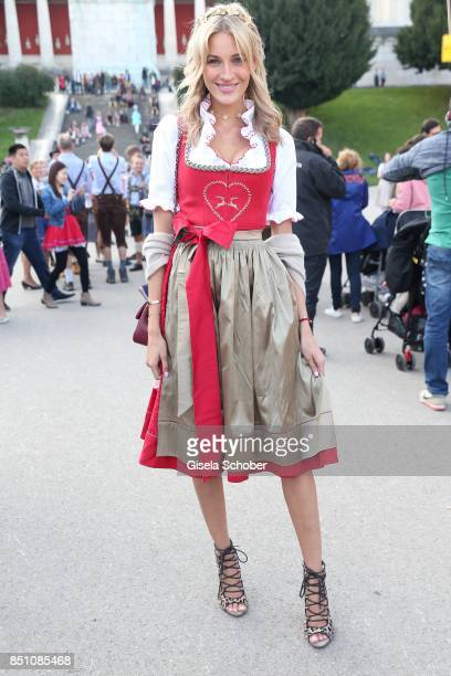 Mandy Bork at the 'Madlwiesn' event during the Oktoberfest at Theresienwiese on September 21 2017 in Munich Germany