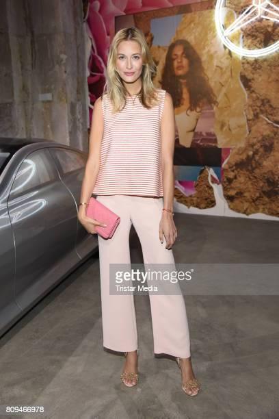 Mandy Bork attends the Malakaraiss show during the MercedesBenz Fashion Week Berlin Spring/Summer 2018 at Kaufhaus Jandorf on July 5 2017 in Berlin...