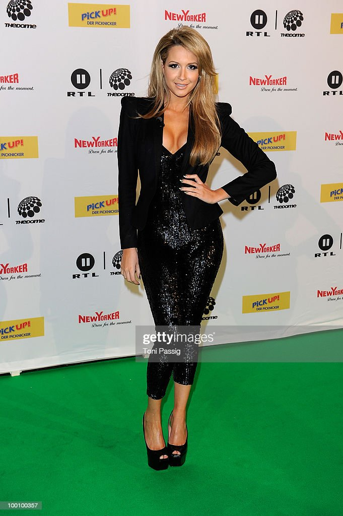 Mandy Capristo arrives at 'The Dome 54' at Schleyerhalle on May 20, 2010 in Stuttgart, Germany.