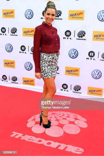 Mandy Capristo arrives at 'The Dome 63' music show at the Forum Ludwigsburg on August 29 2012 in Ludwigsburg Germany