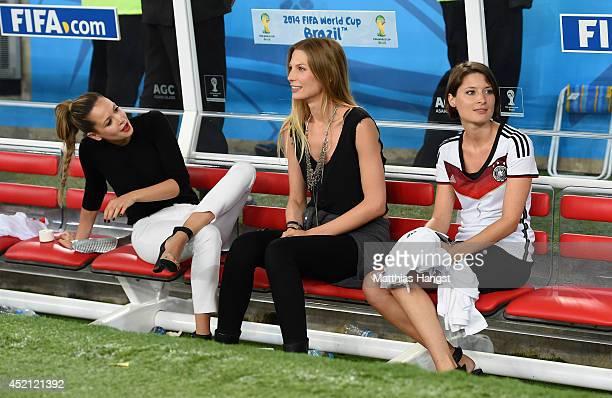 Mandy Capristo girlfriend of Mesut Oezil Sarah Brandner girlfriend of Bastian Schweinsteiger of Germany and Kathrin Gilch girlfriend of Manuel Neuer...