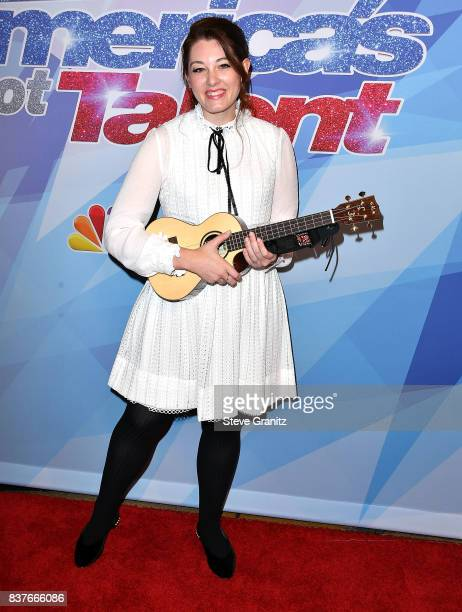 Mandy Harvey arrives at the NBC's 'America's Got Talent' Season 12 Live Show at Dolby Theatre on August 22 2017 in Hollywood California