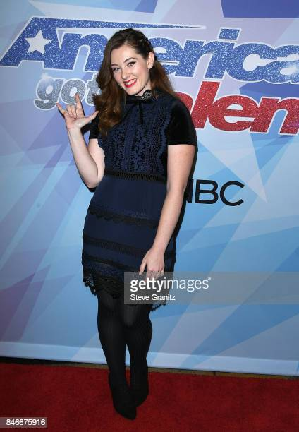 Mandy Harvey arrives at the NBC's 'America's Got Talent' Season 12 Live Show at Dolby Theatre on September 12 2017 in Hollywood California
