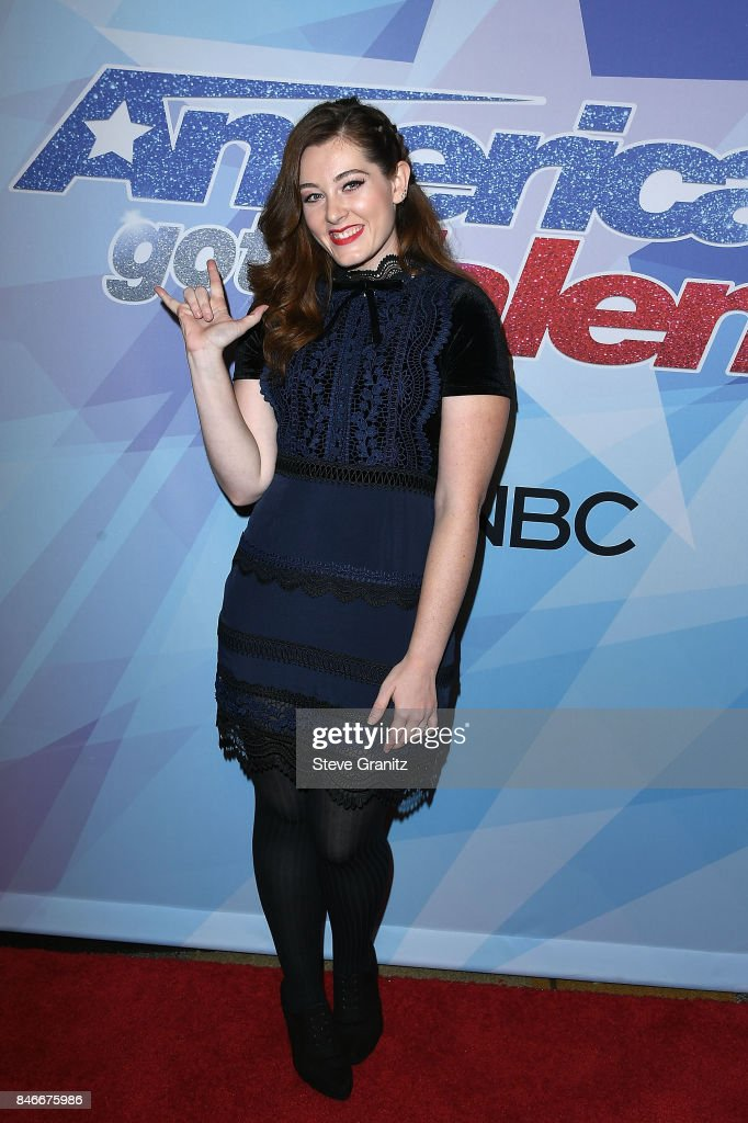 Mandy Harvey arrives at the NBC's 'America's Got Talent' Season 12 Live Show at Dolby Theatre on September 12, 2017 in Hollywood, California.