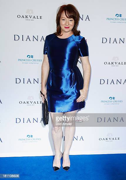 Mandy McElhinney arrives at the Australian premiere of 'Diana' at Event Cinemas George Street on September 19 2013 in Sydney Australia