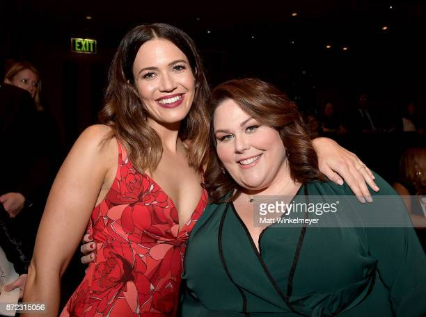 Mandy Moore and Chrissy Metz attend the SAGAFTRA Foundation Patron of the Artists Awards 2017 at the Wallis Annenberg Center for the Performing Arts...