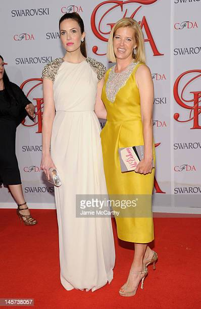 Mandy Moore and Designer Lela Rose attend the 2012 CFDA Fashion Awards at Alice Tully Hall on June 4 2012 in New York City