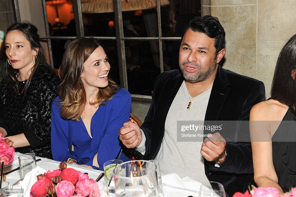 Mandy Moore and Juan Carlos Obando attend Juan Carlos Obando Jewelry Collection Launch Dinner at Chateau Marmont on November 15, 2012 in Los Angeles, California.