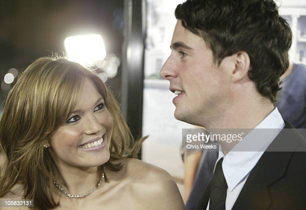 Mandy Moore and Matthew Goode during 'Chasing Liberty' World Premiere at Grauman's Chinese Theater in Hollywood California United States