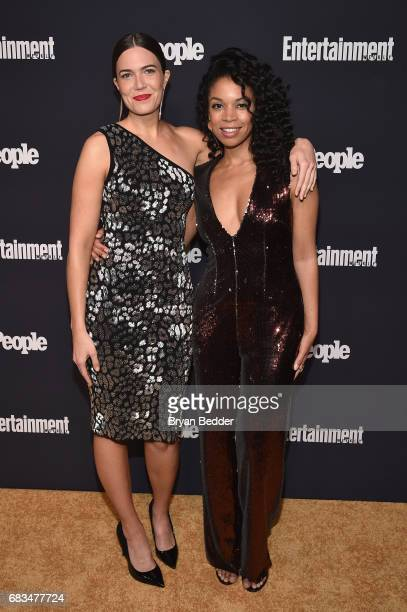 Mandy Moore and Milo Ventimiglia of This Is Us attend the Entertainment Weekly and PEOPLE Upfronts party presented by Netflix and Terra Chips at...