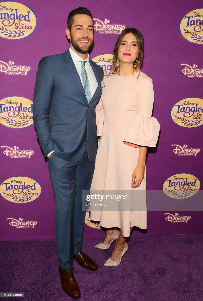 Mandy Moore and Zachary Levi attend a screening of Disney's 'Tangled Before Ever After' on March 04, 2017 in Beverly Hills, California.