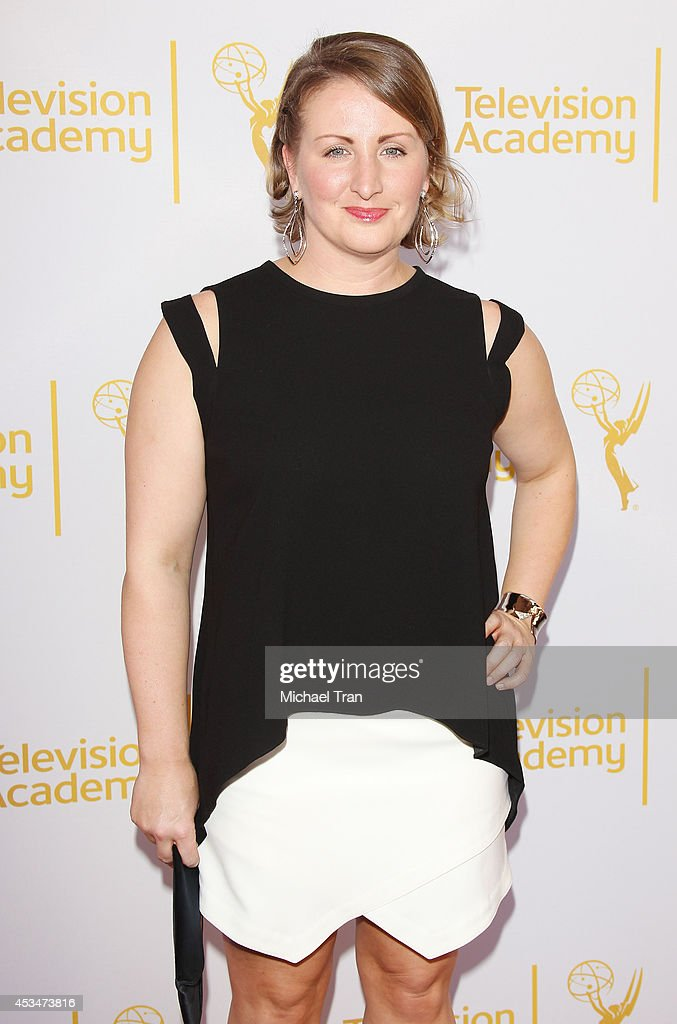 Mandy Moore arrives at Television Academy's Directors Peer Group choreographers celebration held at Leonard H. Goldenson Theatre on August 10, 2014 in North Hollywood, California.