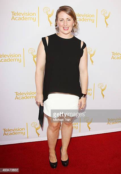 Mandy Moore arrives at Television Academy's Directors Peer Group choreographers celebration held at Leonard H Goldenson Theatre on August 10 2014 in...