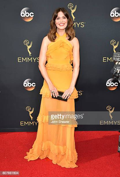 Mandy Moore arrives at the 68th Annual Primetime Emmy Awards at Microsoft Theater on September 18 2016 in Los Angeles California