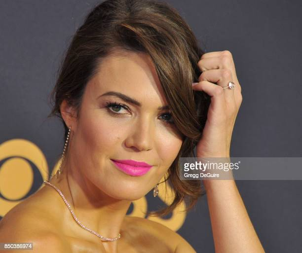 Mandy Moore arrives at the 69th Annual Primetime Emmy Awards at Microsoft Theater on September 17 2017 in Los Angeles California