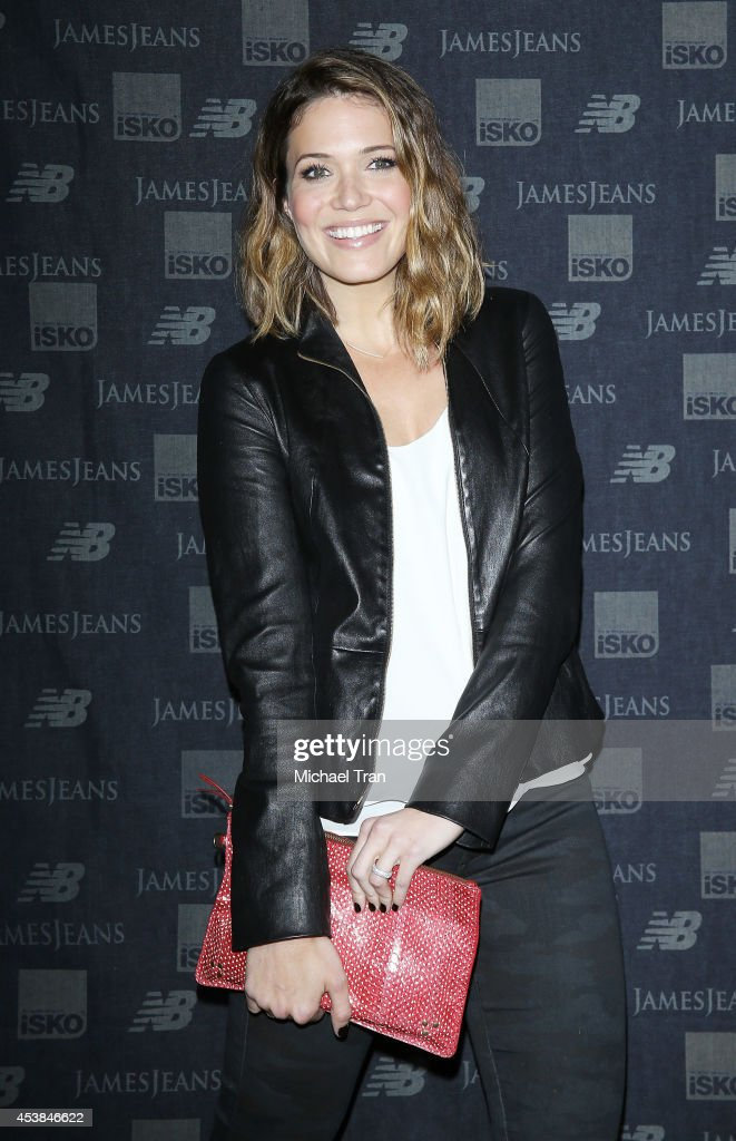 Mandy Moore arrives at the dance party with New Balance and James Jeans powered by ISKO held at a private residence on August 19, 2014 in Beverly Hills, California.