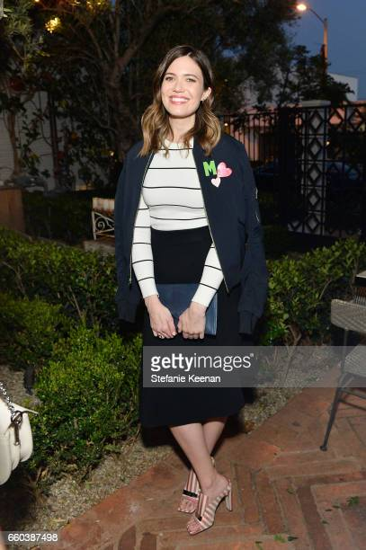 Mandy Moore attends Minka Kelly and Barrett Ward CoHost the FashionABLE Equal Pay Day kickoff Dinner at Gracias Madre on March 29 2017 in Los Angeles...