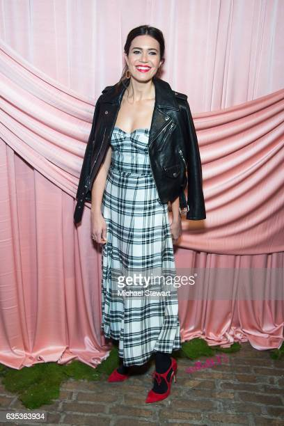 Mandy Moore attends the Alice Olivia by Stacey Bendet presentation during February 2017 New York Fashion Week at Highline Stages on February 14 2017...