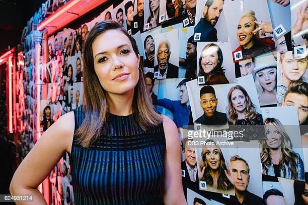 Mandy Moore backstage during 'The Late Late Show with James Corden' Tuesday November 15 2016 On The CBS Television Network