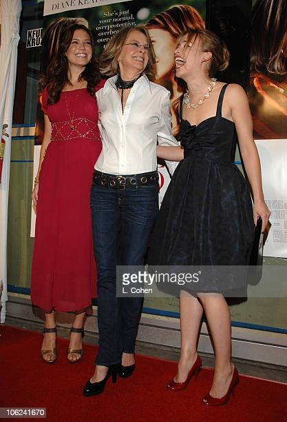 Mandy Moore Diane Keaton and Piper Perabo during 'Because I Said So' Los Angeles Premiere Red Carpet at Arclight in Los Angeles California United...