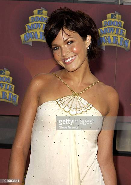 Mandy Moore during 2002 MTV Movie Awards Arrivals at Shrine Auditorium in Los Angeles California United States