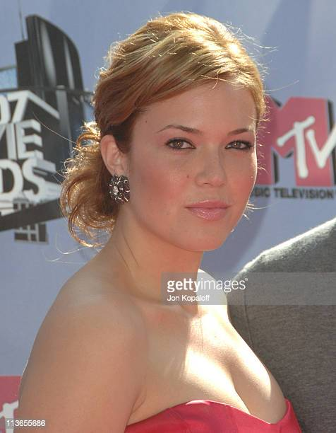 Mandy Moore during 2007 MTV Movie Awards Arrivals at Gibson Amphitheater in Los Angeles California United States