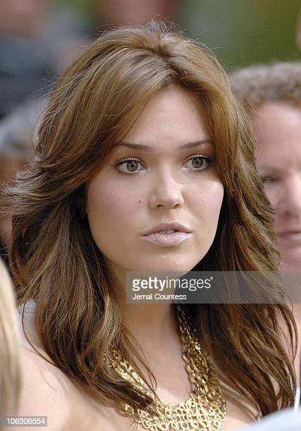 Mandy Moore during Bon Jovi performs at NBC's Today Show Summer Concert Series June 19 2007 at Rockefeller Center in New York City New York United...
