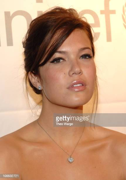 Mandy Moore during DKNY Launches 'Messages of Hope' to Benefit UNICEF at DKNY in New York City New York United States