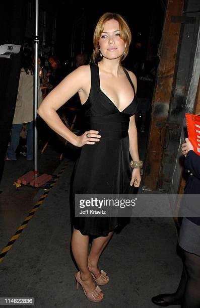 Mandy Moore during First Annual Spike TV's Guys Choice Backstage and Audience at Radford Studios in Los Angeles California United States
