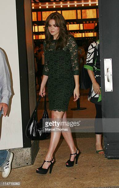 Mandy Moore during Mandy Moore Sighting Outside MTV's 'TRL' Studios in Times Square June 19 2007 at MTV Studios in New York City New York United...