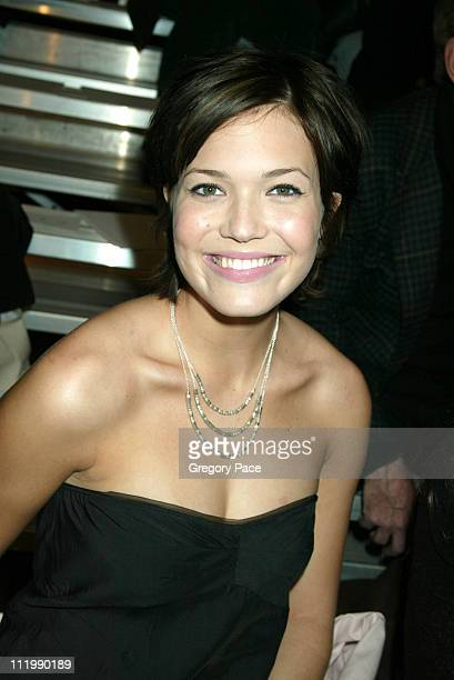 Mandy Moore during Marc Jacobs 2003 Fall Collection attendees at NY State Armory in New York NY United States