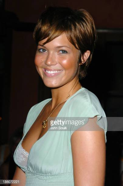 Mandy Moore during Stuff Magazine and Virgin Mobile VMA Party Hosted by Missy Elliot and Dave Meyers Arrivals at Star Island in Miami California...