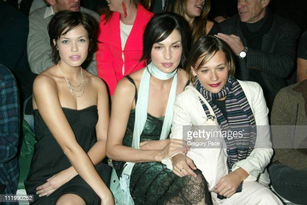 Mandy Moore Famke Janssen and Rashida Jones during Marc Jacobs 2003 Fall Collection attendees at NY State Armory in New York NY United States