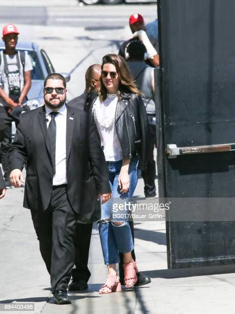 Mandy Moore is seen at 'Jimmy Kimmel Live' on June 09 2017 in Los Angeles California