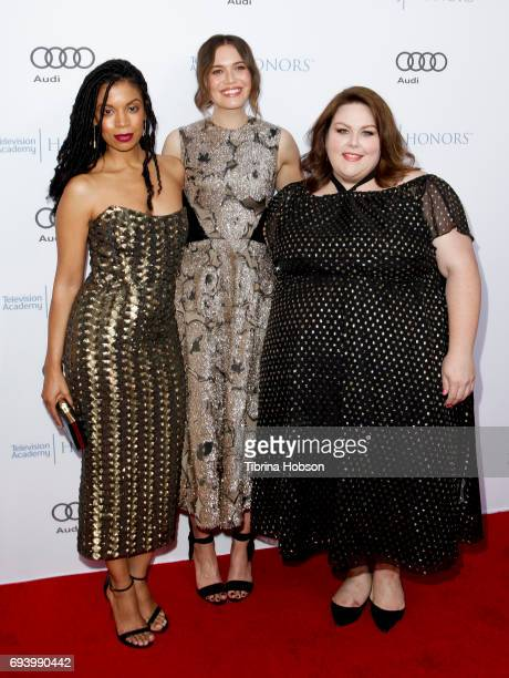 Mandy Moore Susan Kelechi Watson and Chrissy Metz attend the 10th Annual Television Academy Honors at Montage Beverly Hills on June 8 2017 in Beverly...