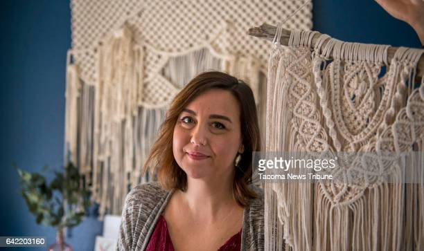 Mandy Morrison made these macrame wall hangings from cotton string and rope