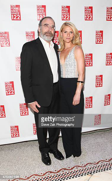 Mandy Patinkin and Clarie Danes attend Performace Space 122 2015 Spring Gala Honoring Claire Danes at Capitale on April 20 2015 in New York City