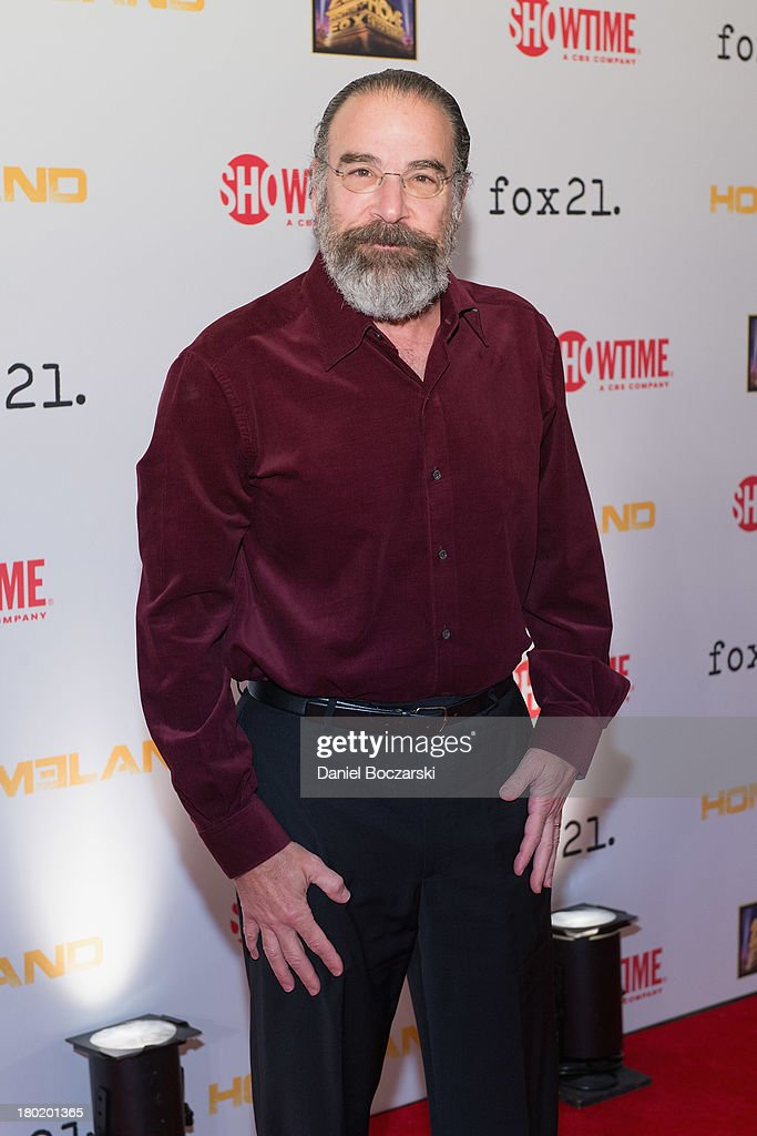 <a gi-track='captionPersonalityLinkClicked' href=/galleries/search?phrase=Mandy+Patinkin&family=editorial&specificpeople=233720 ng-click='$event.stopPropagation()'>Mandy Patinkin</a> attends a premiere screening hosted by SHOWTIME and Fox 21 for Season 3 of the hit series 'Homeland' at Corcoran Gallery of Art on September 9, 2013 in Washington City.