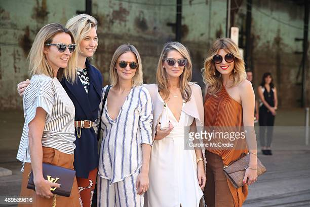 Mandy Shadforth Zanita Whittington Nadia Fairfax Kate Waterhouse and Tanya G attend MercedesBenz Fashion Week Australia 2015 at Carriageworks on...