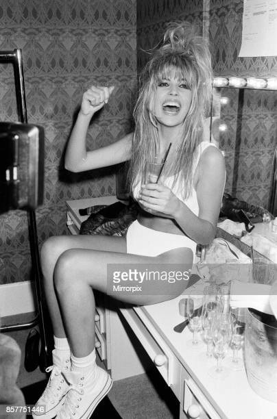 Mandy Smith at a nightclub to promote her new song 17th January 1987