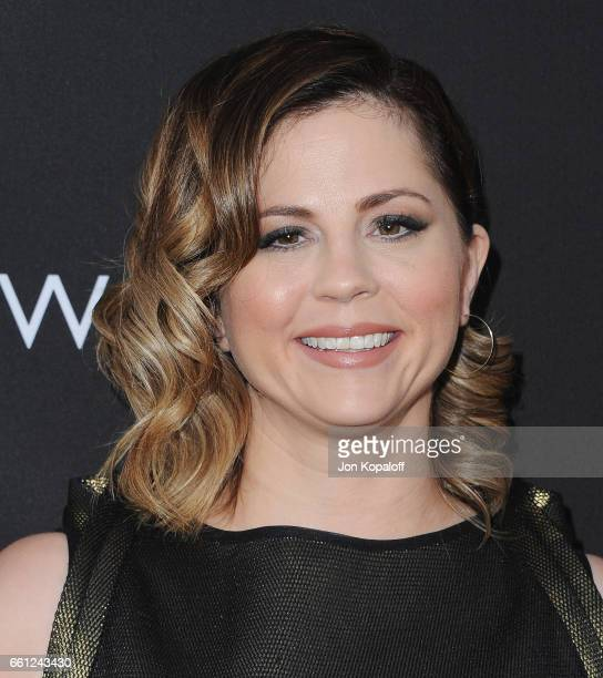 Mandy Teefey arrives at the Los Angeles Premiere of Netflix's '13 Reasons Why' at Paramount Pictures on March 30 2017 in Los Angeles California