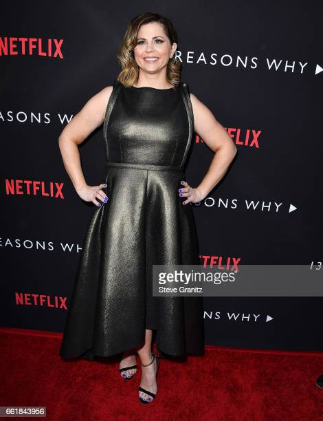Mandy Teefey arrives at the Premiere Of Netflix's '13 Reasons Why' at Paramount Pictures on March 30 2017 in Los Angeles California