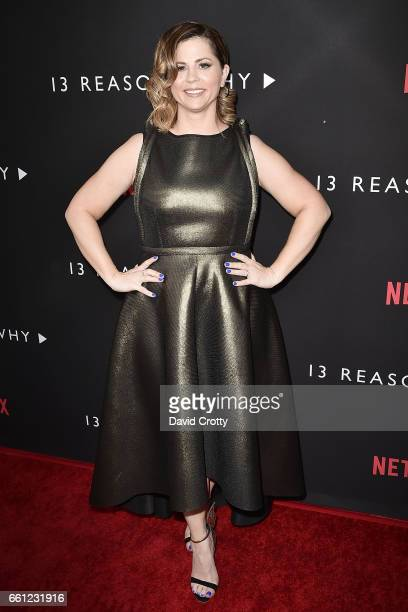Mandy Teefey attends the premiere of Netflix's '13 Reasons Why' at Paramount Pictures on March 30 2017 in Los Angeles California