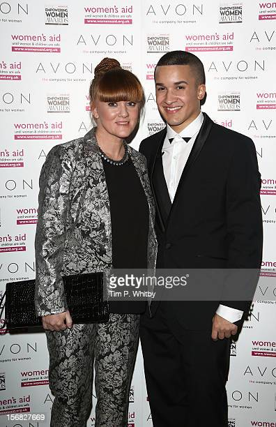 Mandy Thomas and Jahmene Douglas attend the starstudded 2012 Empowering Women Awards hosted by Avon Cosmetics and national Charity Women's Aid at...
