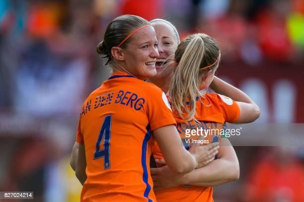 Mandy van den Berg of Holland Women goalkeeper Loes Geurts of Holland Women Jackie Groenen of Holland Women during the UEFA WEURO 2017 final match...